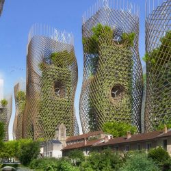 Bamboo nest towers